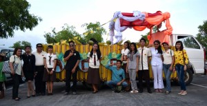 ACES Float with members of Administration, Faculty and Centaurians
