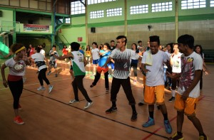 Students during Zumba session