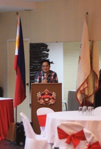 Dr. Angelito S. Abadilla, ACES President during his Opening Remarks