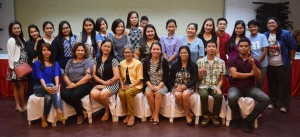 Newly Licensed Professional Teachers with members of the Administration and Faculty